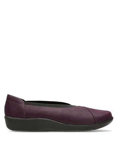 Cloudsteppers By Clarks Holly Flat Shoes-PURPLE-8