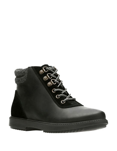 Clarks Raisie Vita Lace-Up Booties-BLACK-6.5