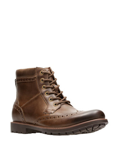 Clarks Curington Rise Boots-BROWN-9