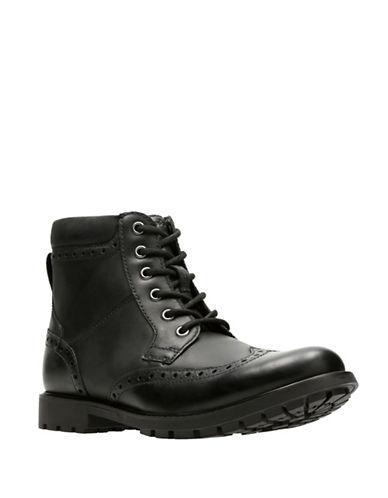 Clarks Curington Rise Boots-BLACK-11.5