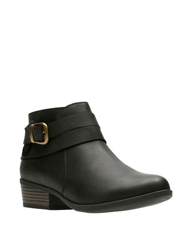 Clarks Ortholite Ankle Boots-BLACK-7.5