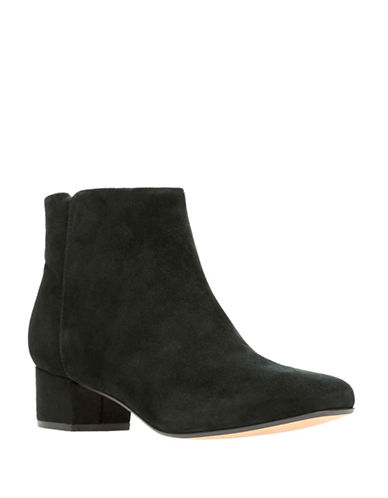 Clarks Chartli Lilac Suede Booties-BLACK SUEDE-6