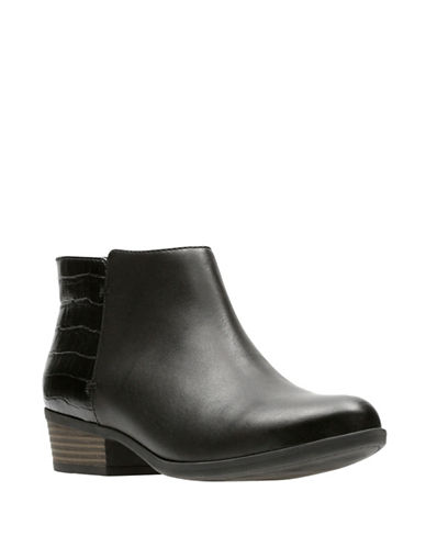 Clarks Addiy Zora Leather Booties-BLACK-10