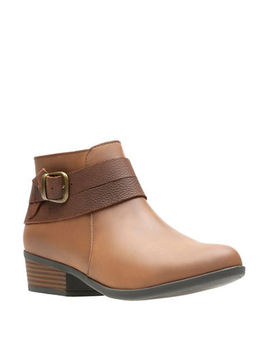 Clarks Ortholite Ankle Boots-TAN-6