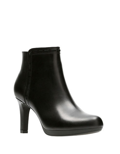 Clarks Adriel Sadie Leather Booties-BLACK-9W