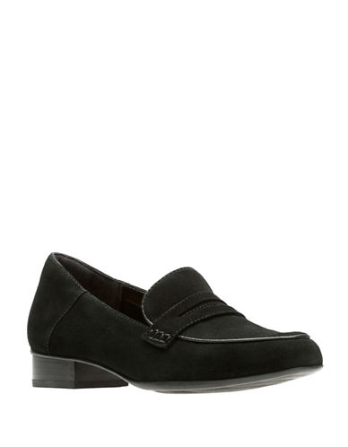 Clarks Artisan Keesha Cora Loafers-BLACK SUEDE-9