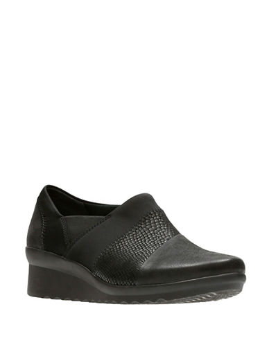 Cloudsteppers By Clarks Cloud Steppers Slip-On Sneakers-BLACK-9