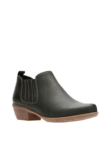 Clarks Artisan Wilrose Jade Leather Chelsea Boots-BLACK NUBUCK-6