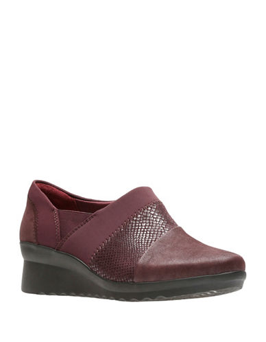 Cloudsteppers By Clarks Cloud Steppers Slip-On Sneakers-BURGUNDY-7.5