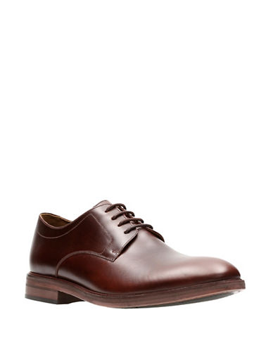 Bostonian Mckewen Plain Leather Oxfords-BROWN-9.5