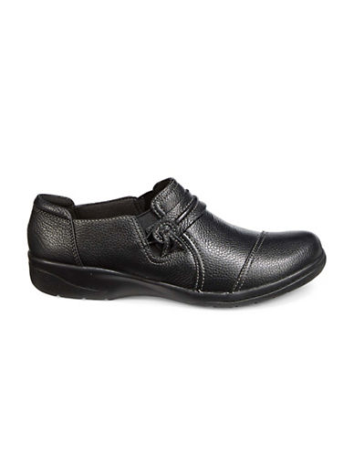 Clarks Cheyn Madi Loafers-BLACK-7.5W