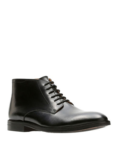 Bostonian Mckewen Rise Leather Dress Boots-BLACK-9
