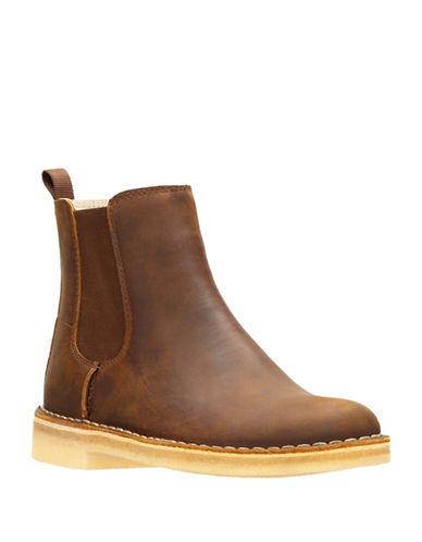 Clarks Artisan Desert Peak Leather Chelsea Boots-BEESWAX-9