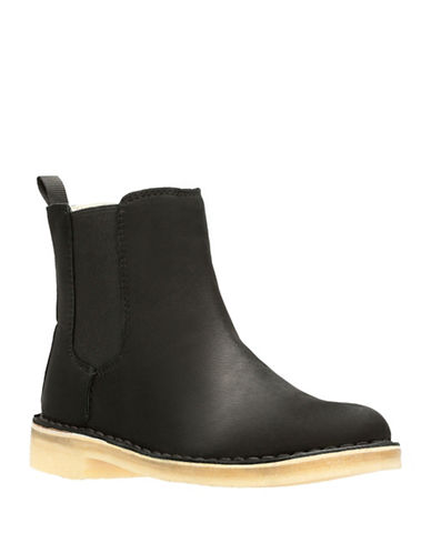 Clarks Artisan Desert Peak Leather Chelsea Boots-BLACK LEATHER-10