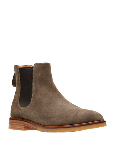 Clarks Clarkdale Gobi Leather Chelsea Boots-GREEN-12