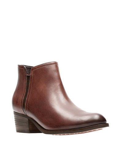 Clarks Artisan Leather Ankle Boots-MAHOGANY-5