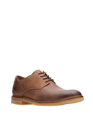 Clarks Clarkdale Moon Leather Derbys-BROWN-12