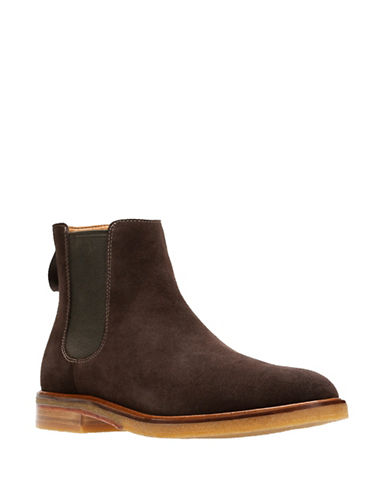Clarks Clarkdale Gobi Leather Chelsea Boots-DARK BROWN-8.5