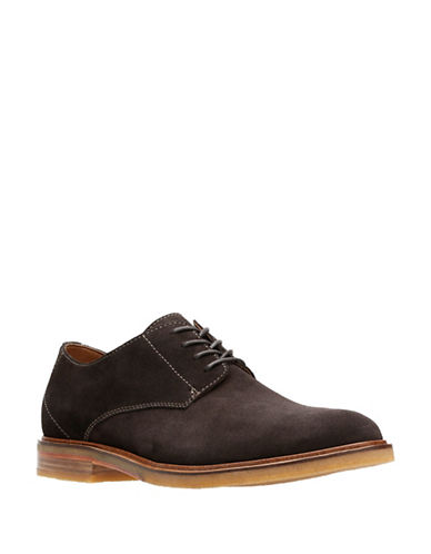 Clarks Clarkdale Moon Leather Derbys-DARK BROWN-8.5