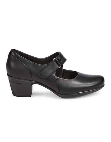 Clarks Emslie Leather Mary-Jane Shoes-BLACK-8.5