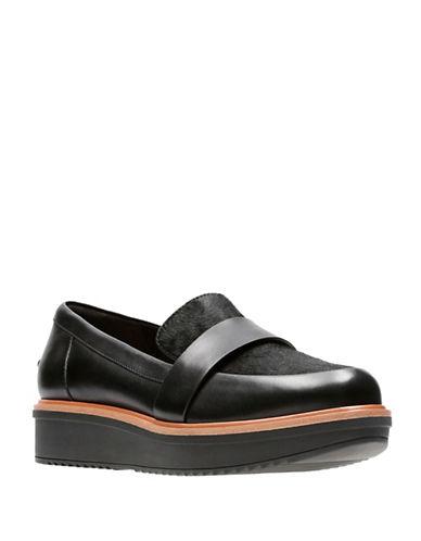 Clarks Artisan Elsa Platform Loafers-BLACK MULTI-7