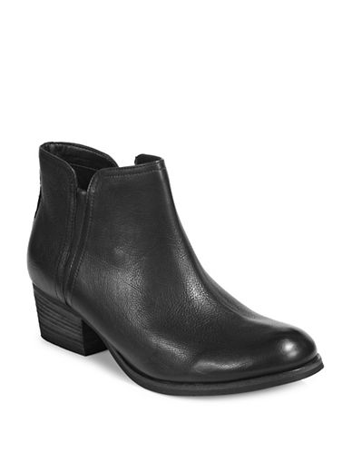 Clarks Artisan Leather Ankle Boots-BLACK-9