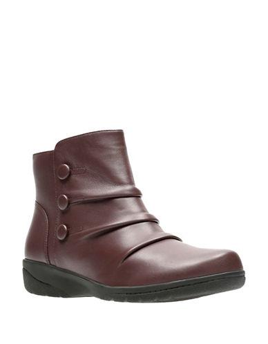 Clarks Cheyn Anne Ankle Boots-BURGUNDY-10