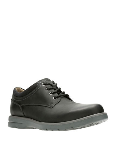 Clarks Vossen Plain Derbys-BLACK-11