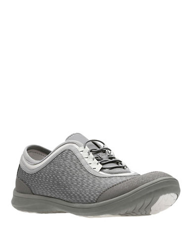 Cloudsteppers By Clarks Womens Dowlingpearl Low Top Sneakers-DARK GREY-6