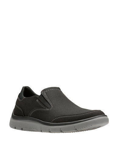 Clarks Tunsil Slip-On Shoes-BLACK-8.5