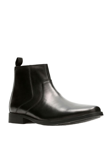 Clarks Tilden Zip Ankle Boots-BLACK-10.5