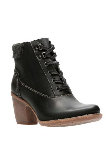 Clarks Artisan Carleta Crane Ankle Boots-BLACK-8