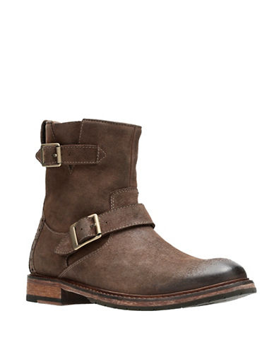 Clarks Clarksdale Cash Leather Boots-BROWN-7