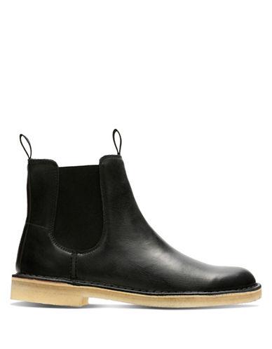 Clarks Originals Desert Peak Chelsea Boots-BLACK-9.5