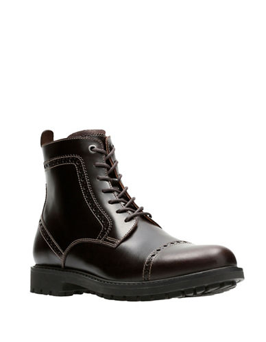 Clarks Montacute Cap Boots-DARK BROWN-9.5