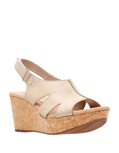 Clarks Annadel Bari Leather Wedge Sandals-SAND-5