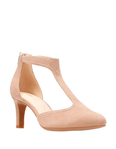 Clarks Artisan Calla Lily T-Strap D Orsay Pumps-BEIGE-6