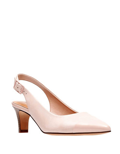 Clarks Leather Slingback Heel-PINK-8W