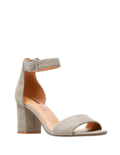 Clarks Deva Mae Block Heel Sandals-GREEN-6.5