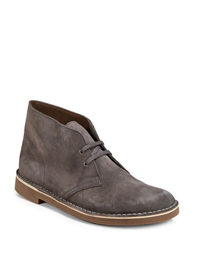 Clarks Bushacre 2 Leather Boots-GREY-10.5
