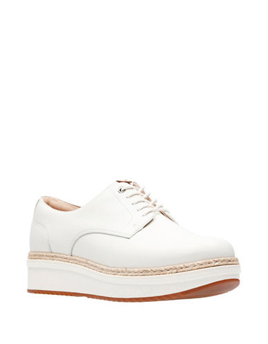 Clarks Artisan Theadale Rhea Slip-On Leather Oxford-WHITE-6.5