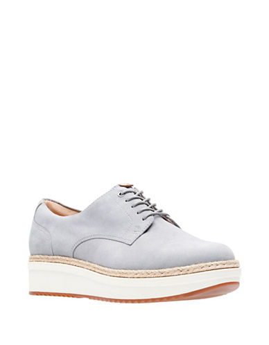 Clarks Artisan Theadale Rhea Slip-On Leather Oxford-GREY-7.5