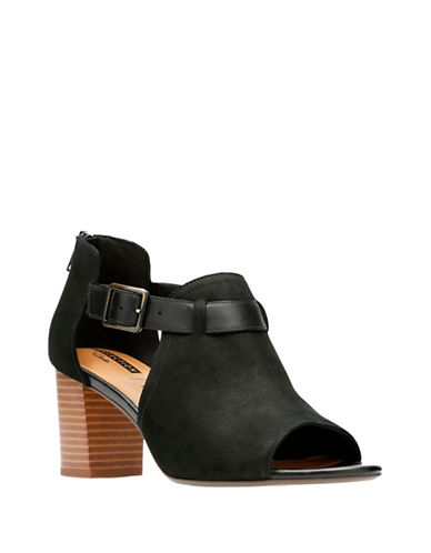 Clarks Deva Valeria Open Toe Sandals-BLACK-7.5
