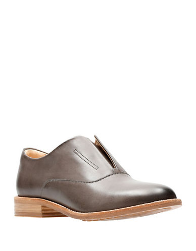 Clarks Artisan Endvale Opal Slip-On Oxfords-GREY-9.5
