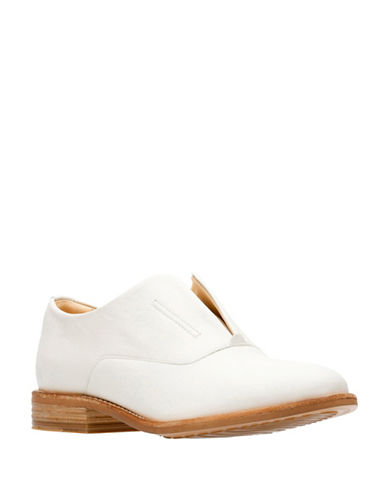 Clarks Artisan Endvale Opal Slip-On Oxfords-WHITE-10