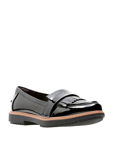 Clarks Raisie Theresa Loafers-BLACK-7.5