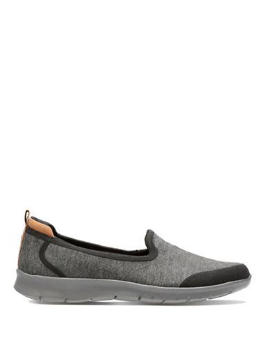 Cloudsteppers By Clarks Step Allena Slip-On Sneakers-BLACK-7.5