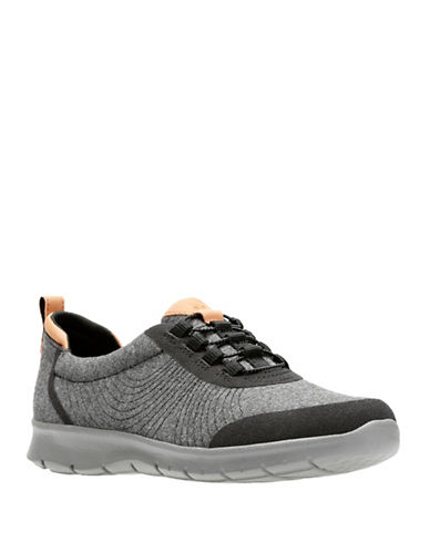 Cloudsteppers By Clarks Cloud Steppers Low Top Sneakers-BLACK-8.5