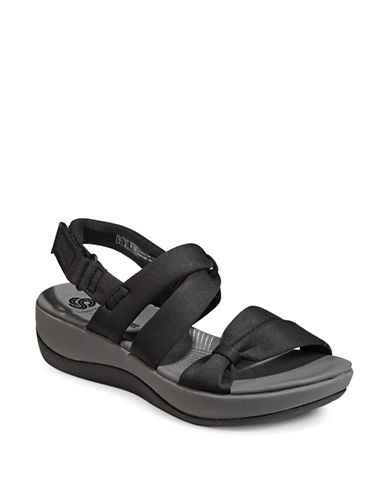 Cloudsteppers By Clarks Arla Mae Sandals-BLACK-8.5