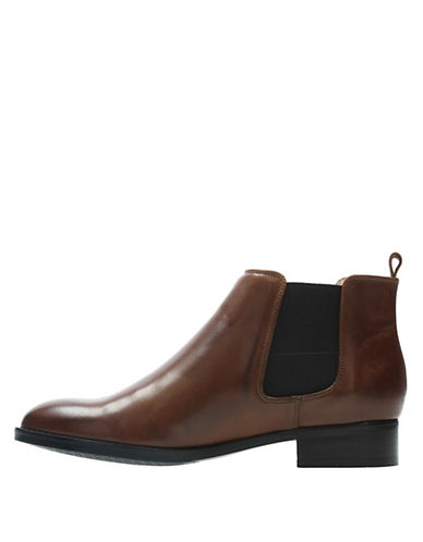 Netley Ella Leather Boots by Clarks